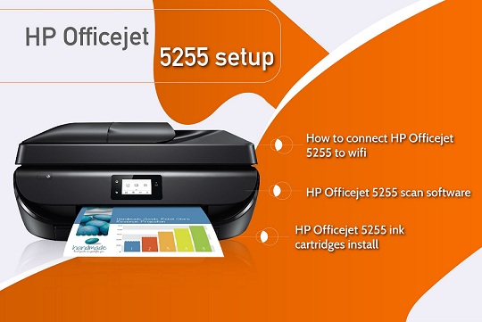 Connect HP Officejet 5255 to Wifi